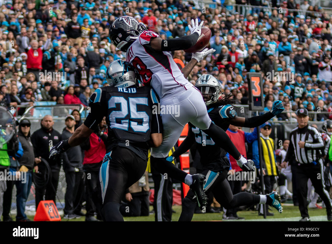 Atlanta Falcons wide receiver Calvin Ridley (18) during game action at Bank  of America Stadium in Charlotte 9793a9904