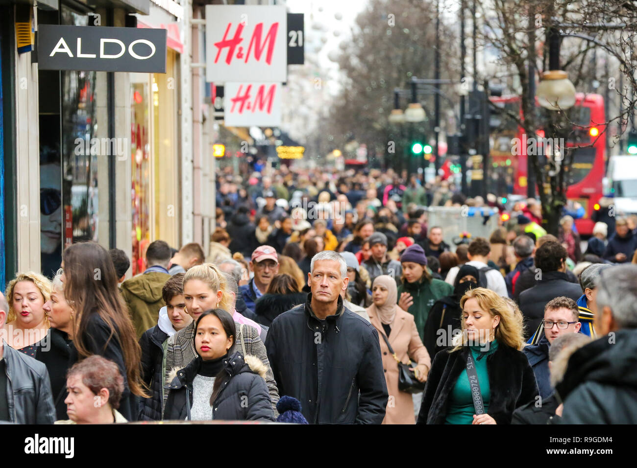 Last Minute Christmas Shoppers Are Seen On Londons Oxford Street