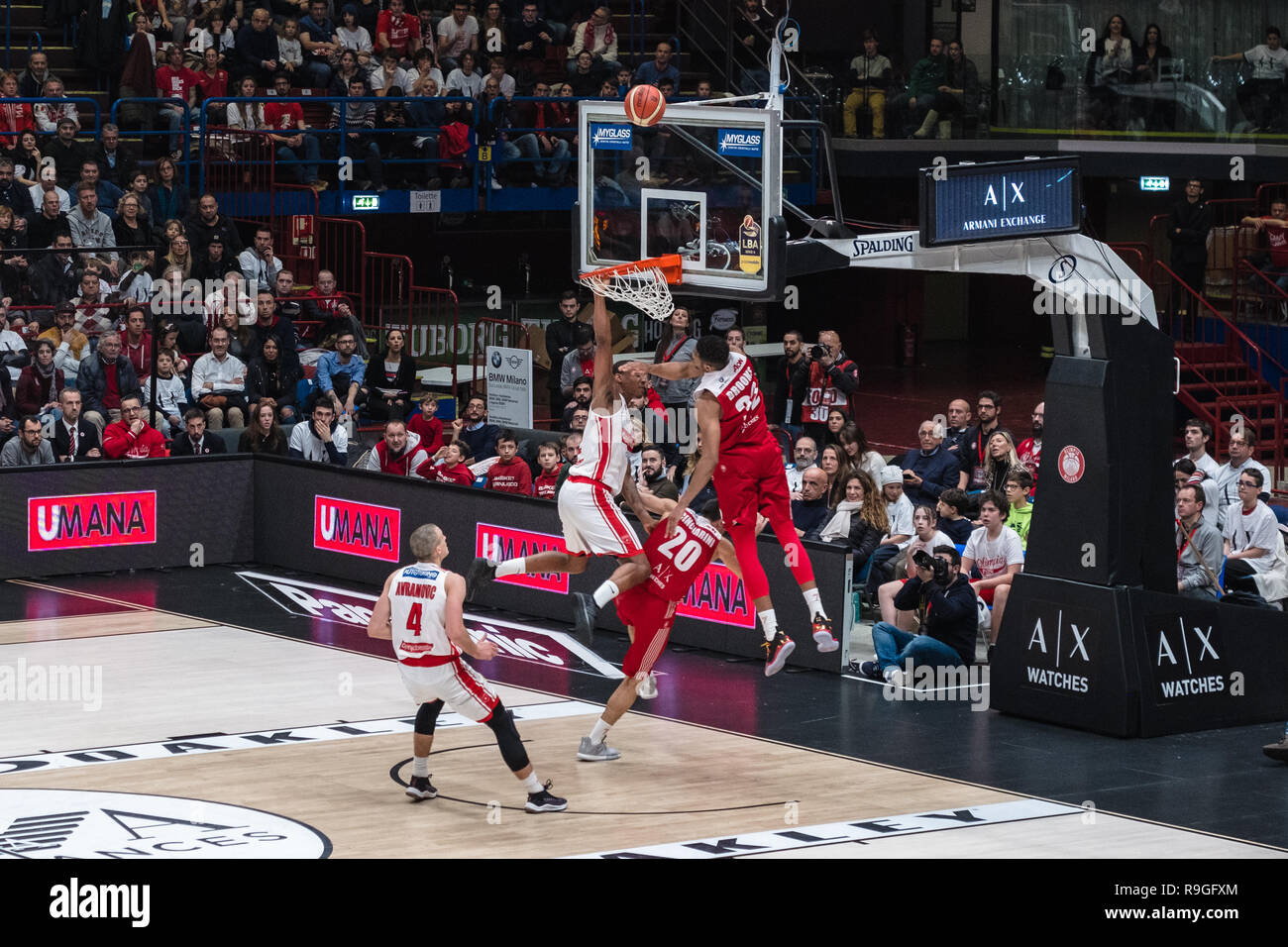 Milan, Italy. 23rd Dec, 2018. Milan, Italy. December 23, 2018. Olimpia Milano vs Pallacanestro Varese Credit: Luca Quadrio/Alamy Live News Stock Photo
