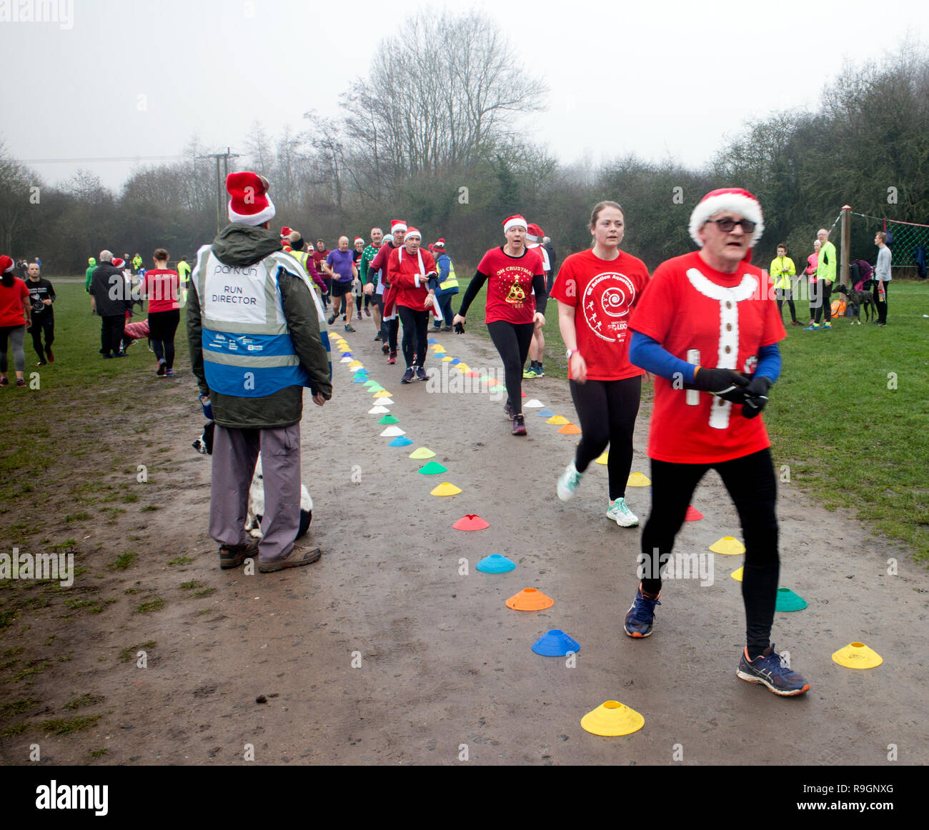 Christmas Parkrun.Redditch Worcestershire Uk 25th Dec 2018 Uk Runners