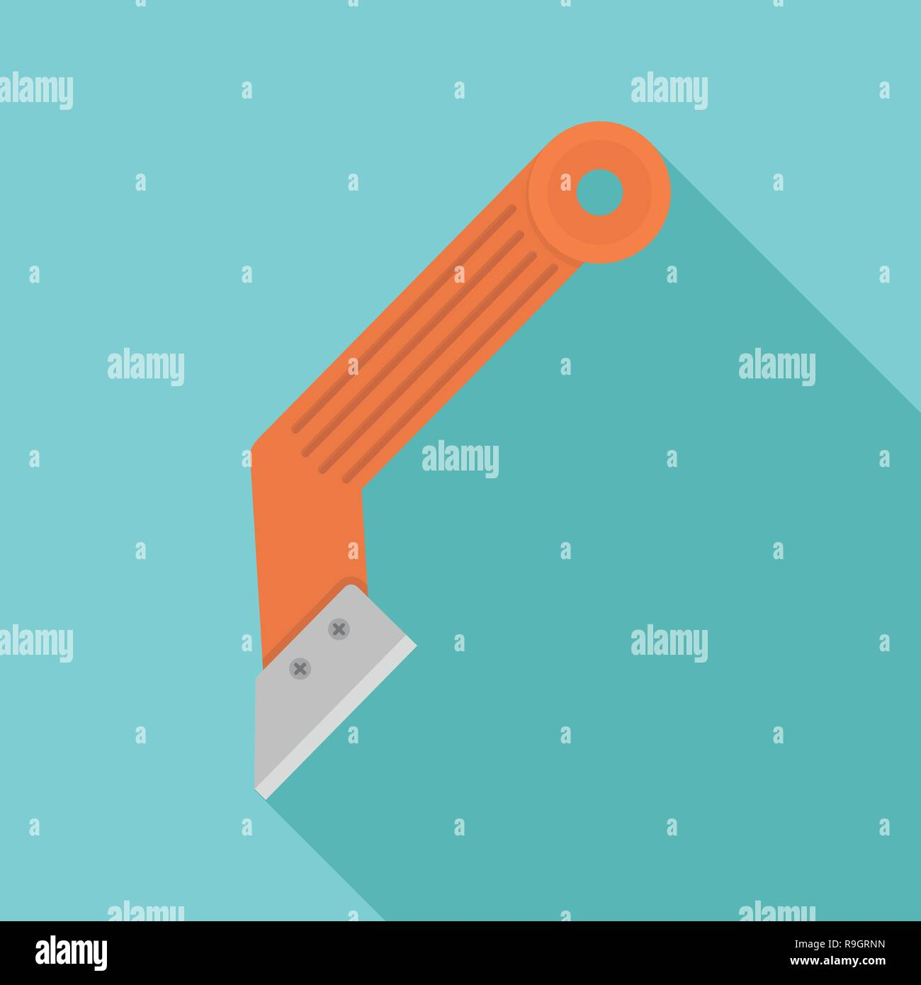 Construction knife icon. Flat illustration of construction knife vector icon for web design - Stock Image