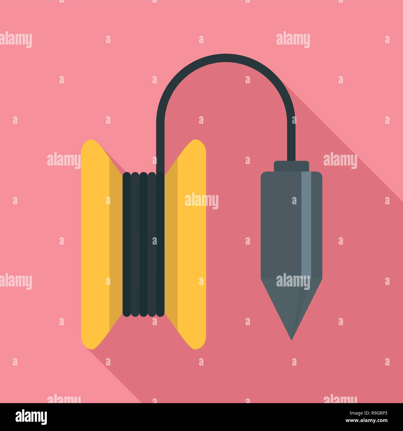 Gravity line tool icon. Flat illustration of gravity line tool vector icon for web design Stock Vector