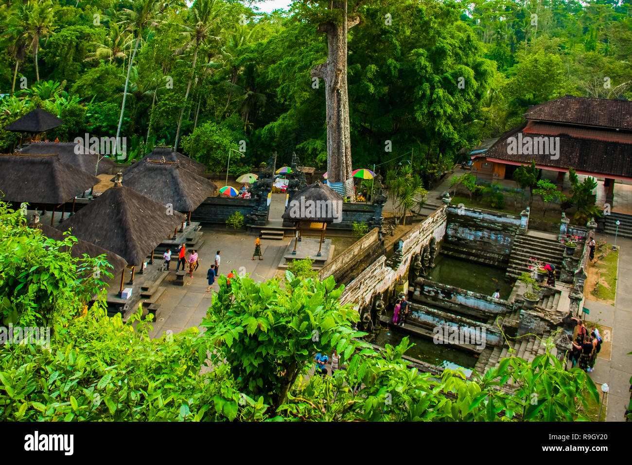 Ancient Balinese Temple Goa Gajah Elephant Cave In Bali