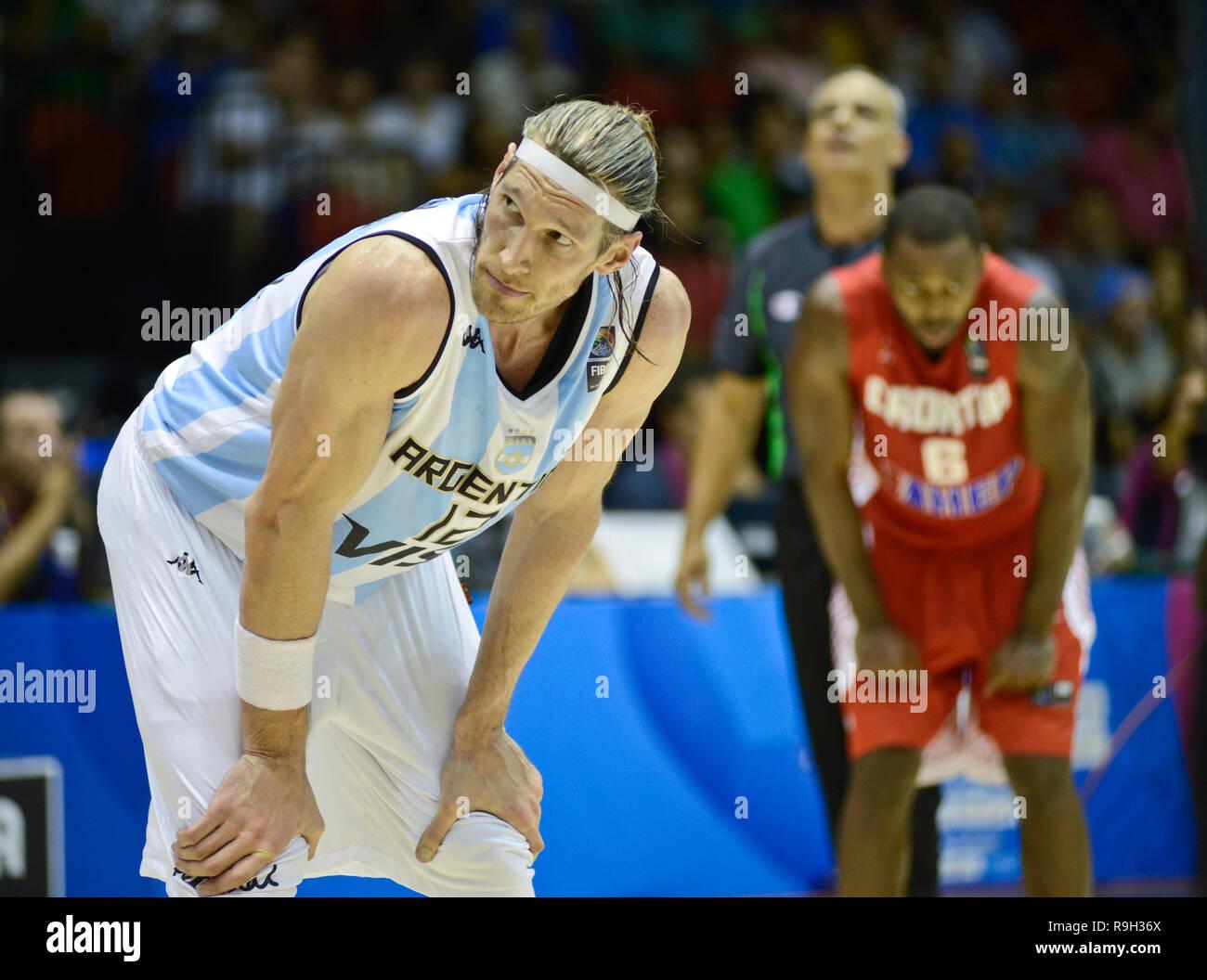 Walter Herrmann. Argentina Basketball National Team. FIBA Basketball World Cup, Spain 2014 - Stock Image