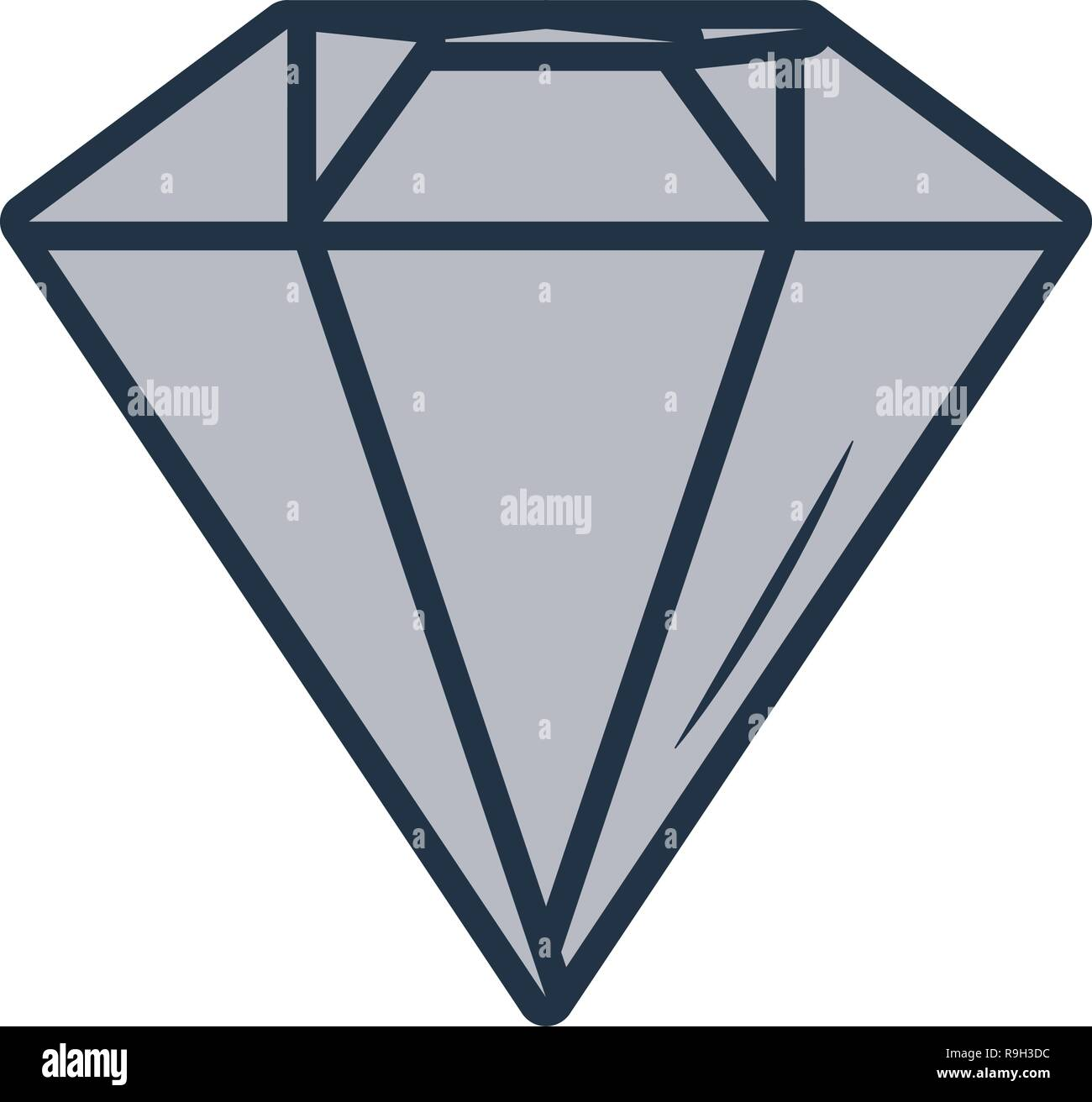 luxury diamond cartoon - Stock Vector