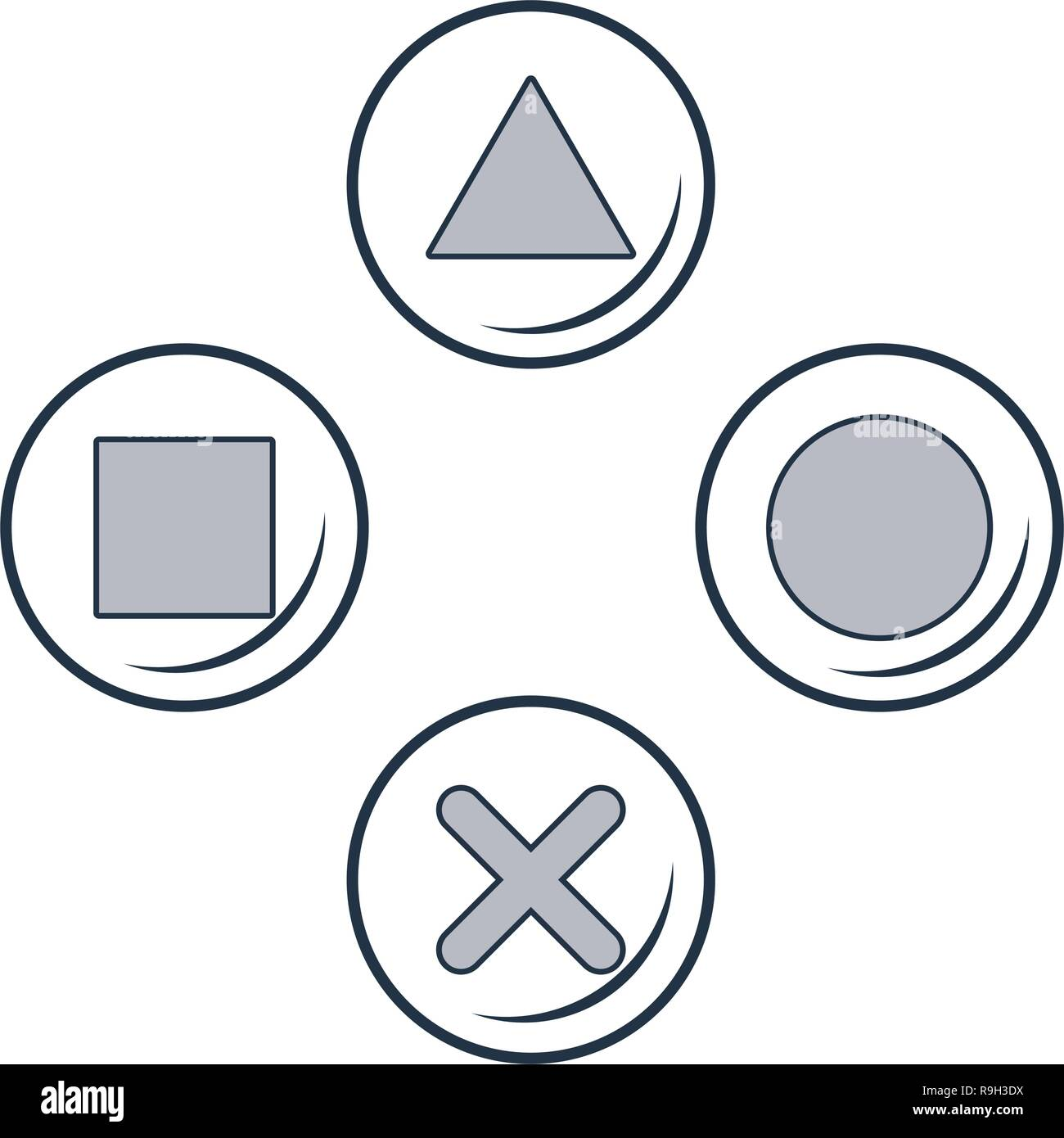 videogame time cartoon - Stock Vector
