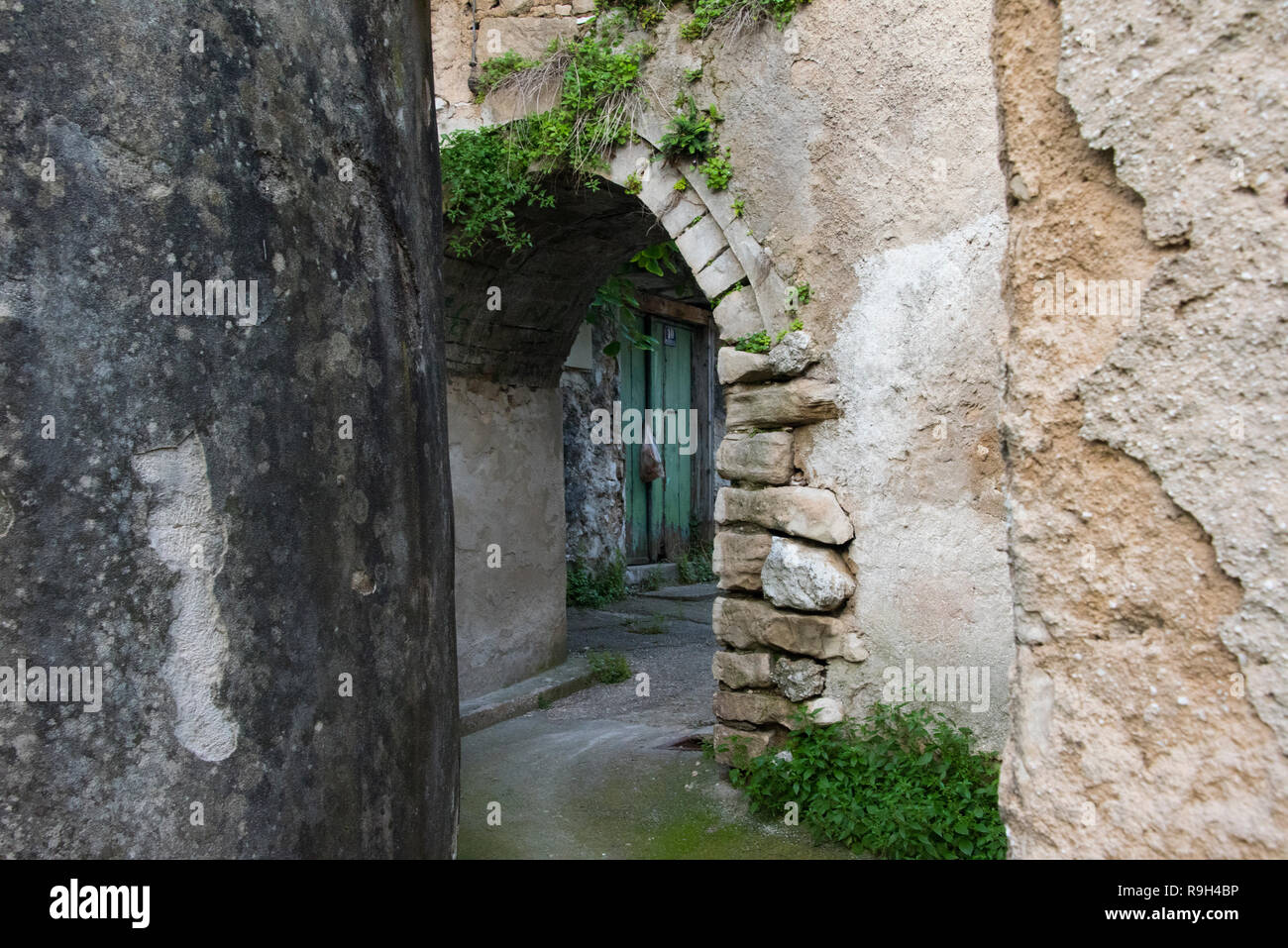 Old house, Mostar, Bosnia and Herzegovina - Stock Image