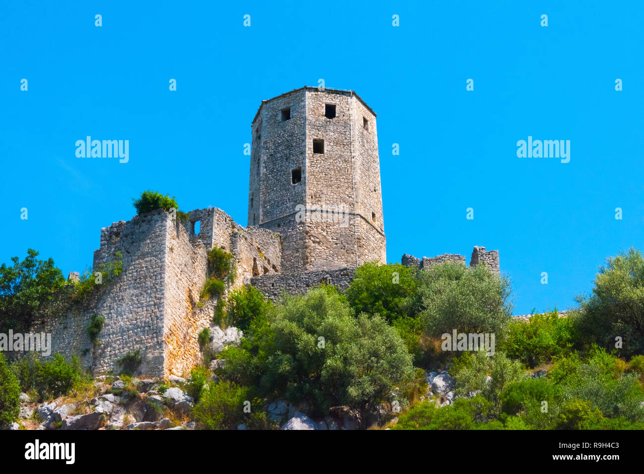 Towers of the Kula, Pocitelj, Bosnia and Herzegovina - Stock Image