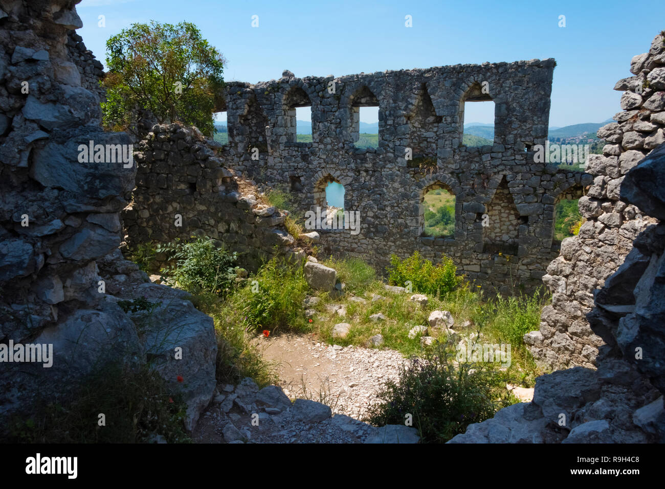 Old fortress, Pocitelj, Bosnia and Herzegovina - Stock Image