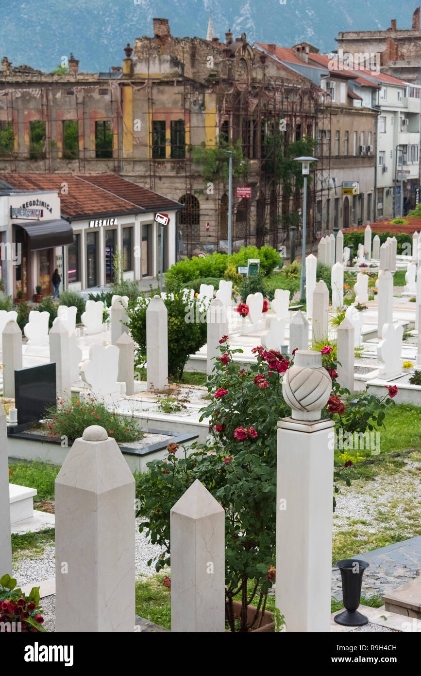 Cemetery, Mostar, Bosnia and Herzegovina - Stock Image