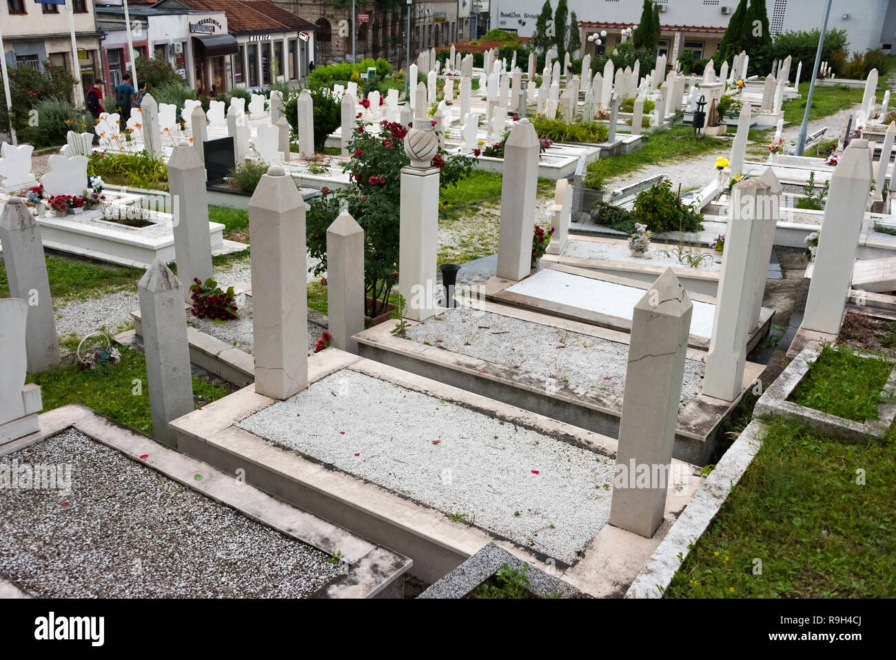 Cemetery, Mostar, Bosnia and Herzegovina Stock Photo