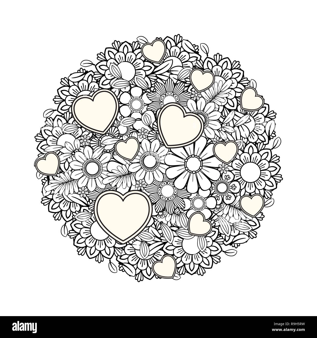 Adult Coloring Page Stock Photos & Adult Coloring Page Stock ...