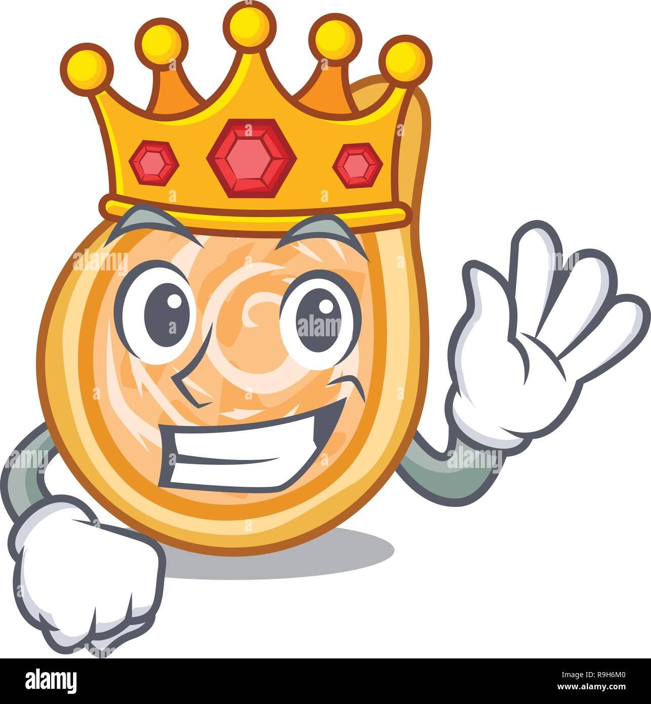 King chicken coxinha in shape a cartoon - Stock Vector
