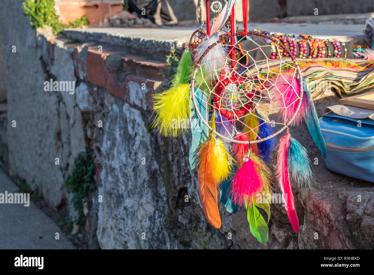 Colorful Dreamcatcher - Stock Image