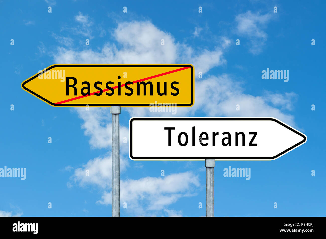 Sign Racism - tolerance - Stock Image