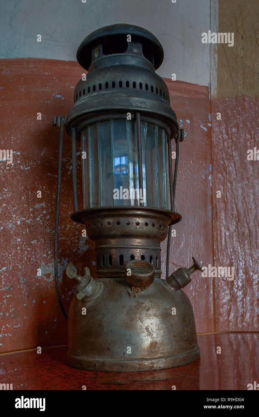 30-Jan02010 Vintage Petromax Kerosene Pressure Lantern -IDAR sabarkantha District GUJARAT INDIA - Stock Image