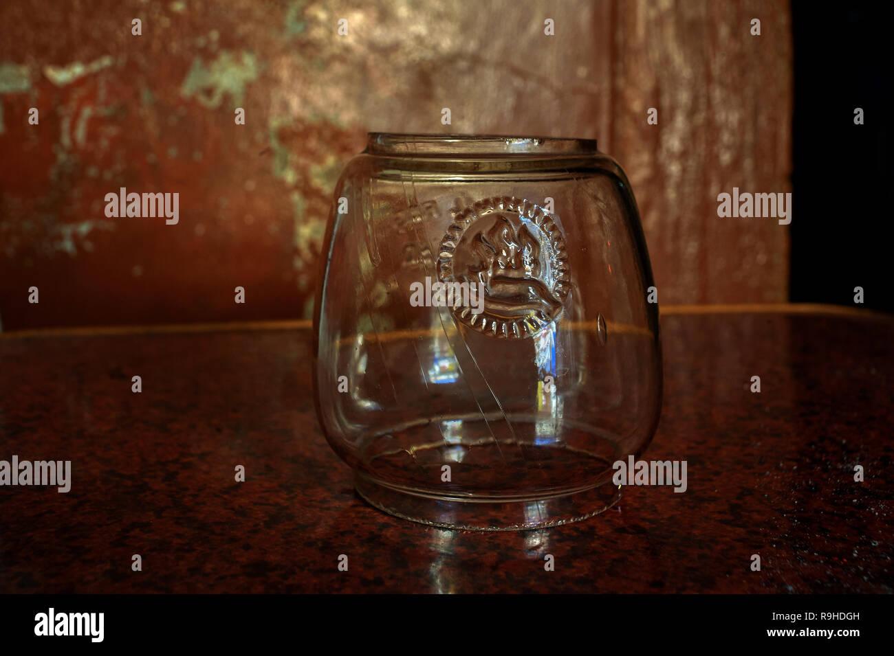 30-Jan02010 Vintage Nier Feuerhand 280 Firehand glass pot -IDAR sabarkantha District GUJARAT INDIA - Stock Image