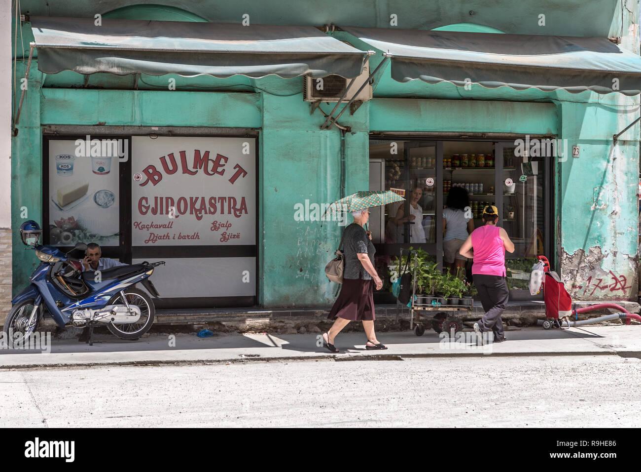 Shops Tirana Albania - Stock Image