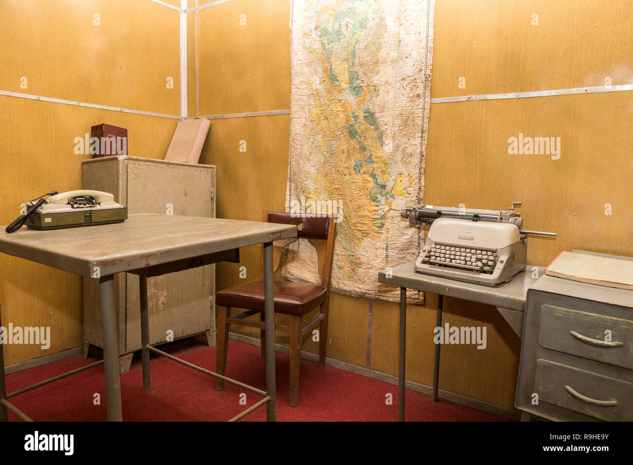 Offices Bunk'Art nuclear bunker Tirana Albania - Stock Image