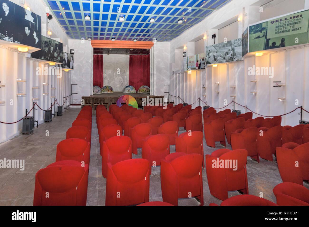 Theatre Bunk'Art nuclear bunker Tirana Albania - Stock Image