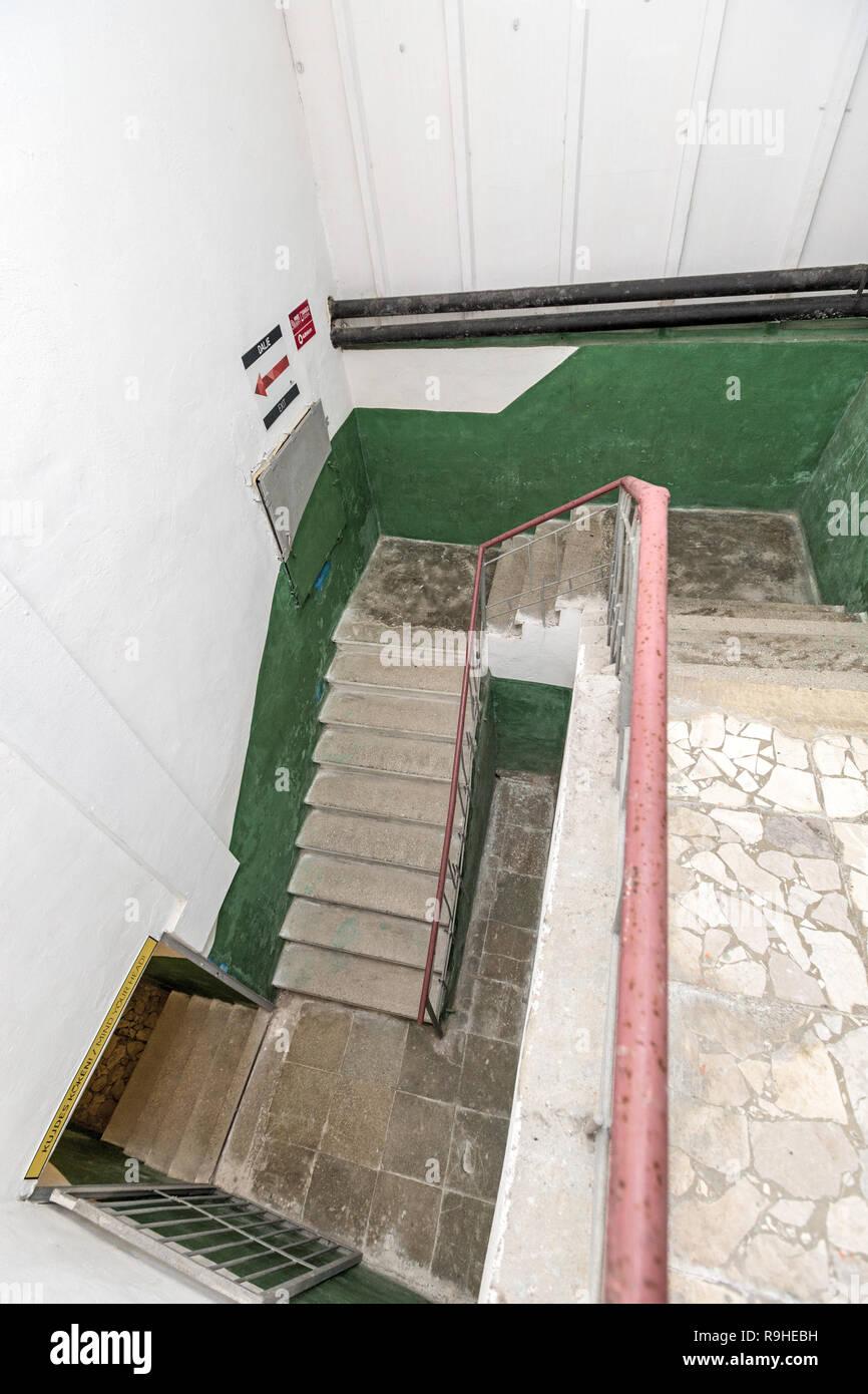 Stairwell  Bunk'Art nuclear bunker Tirana Albania - Stock Image