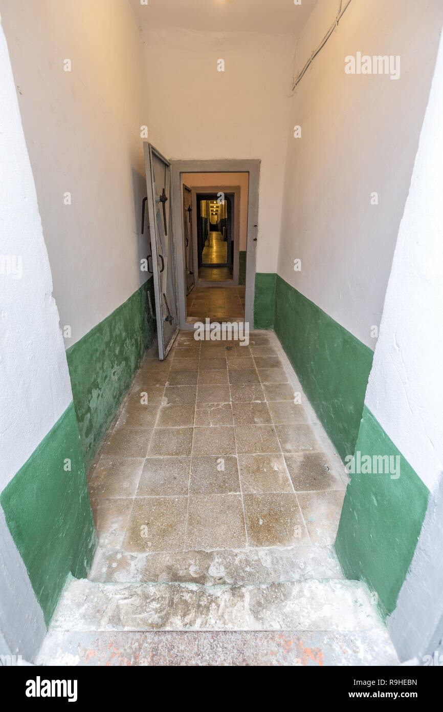 Corridor Bunk'Art nuclear bunker Tirana Albania - Stock Image