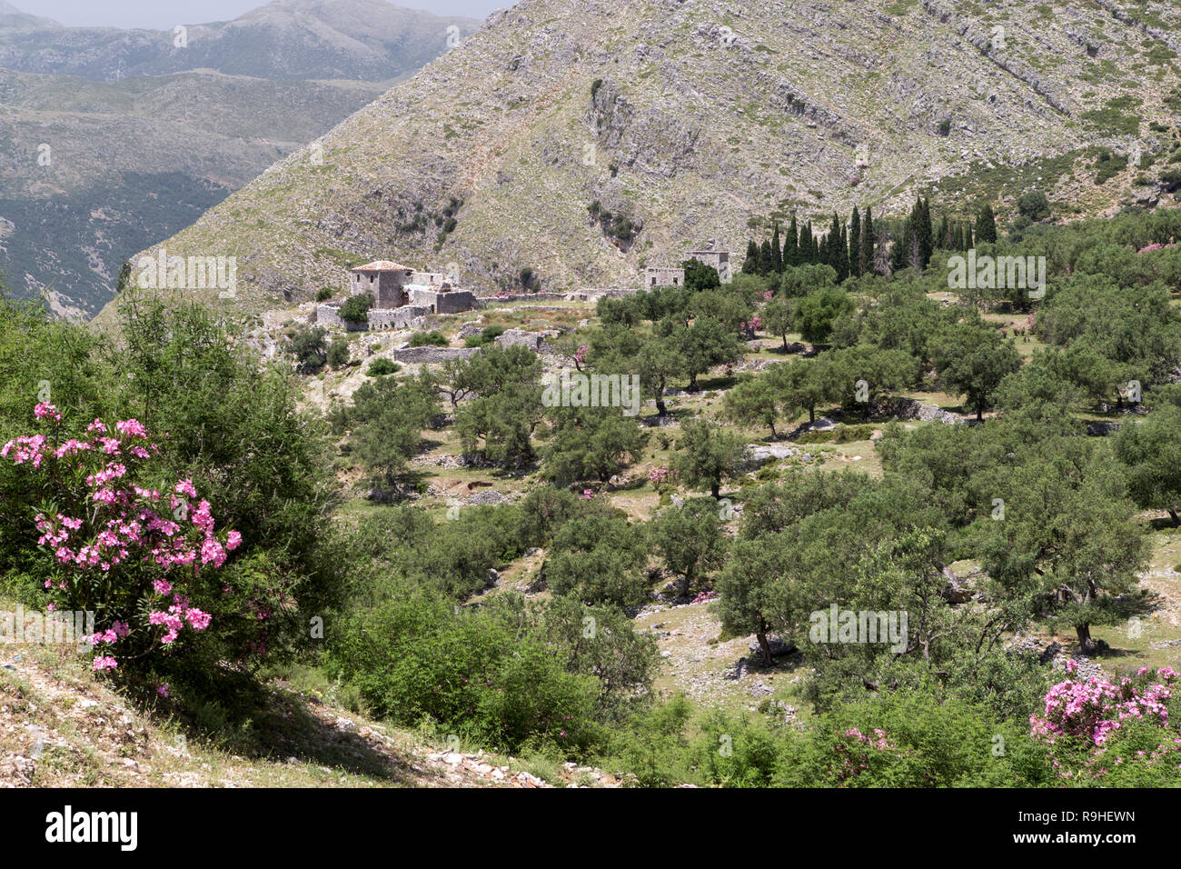 Qeparo Fshat village Albania - Stock Image