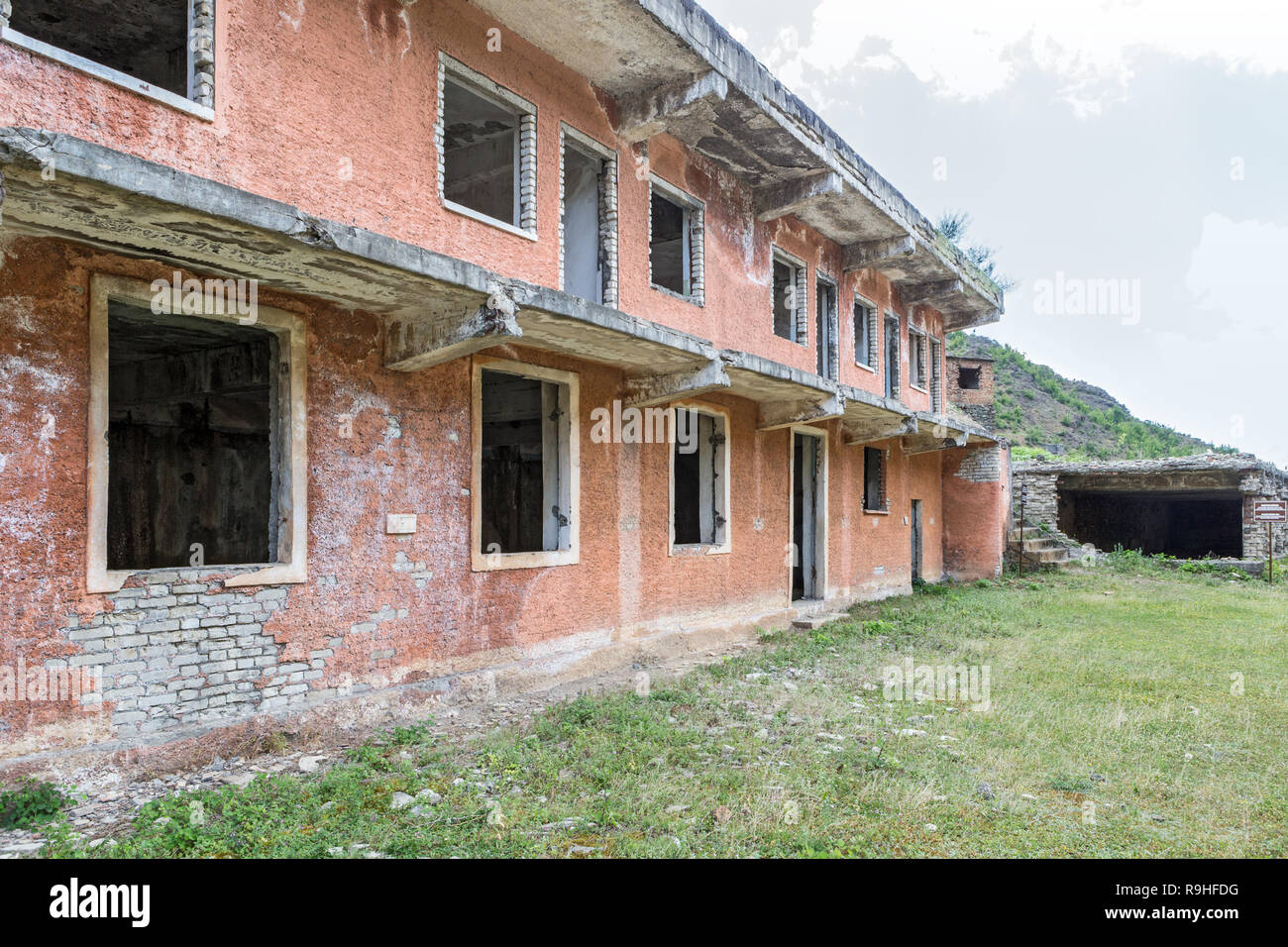 Library and medical / dental centre, Spac communist prisoner torture camp, Albania - Stock Image