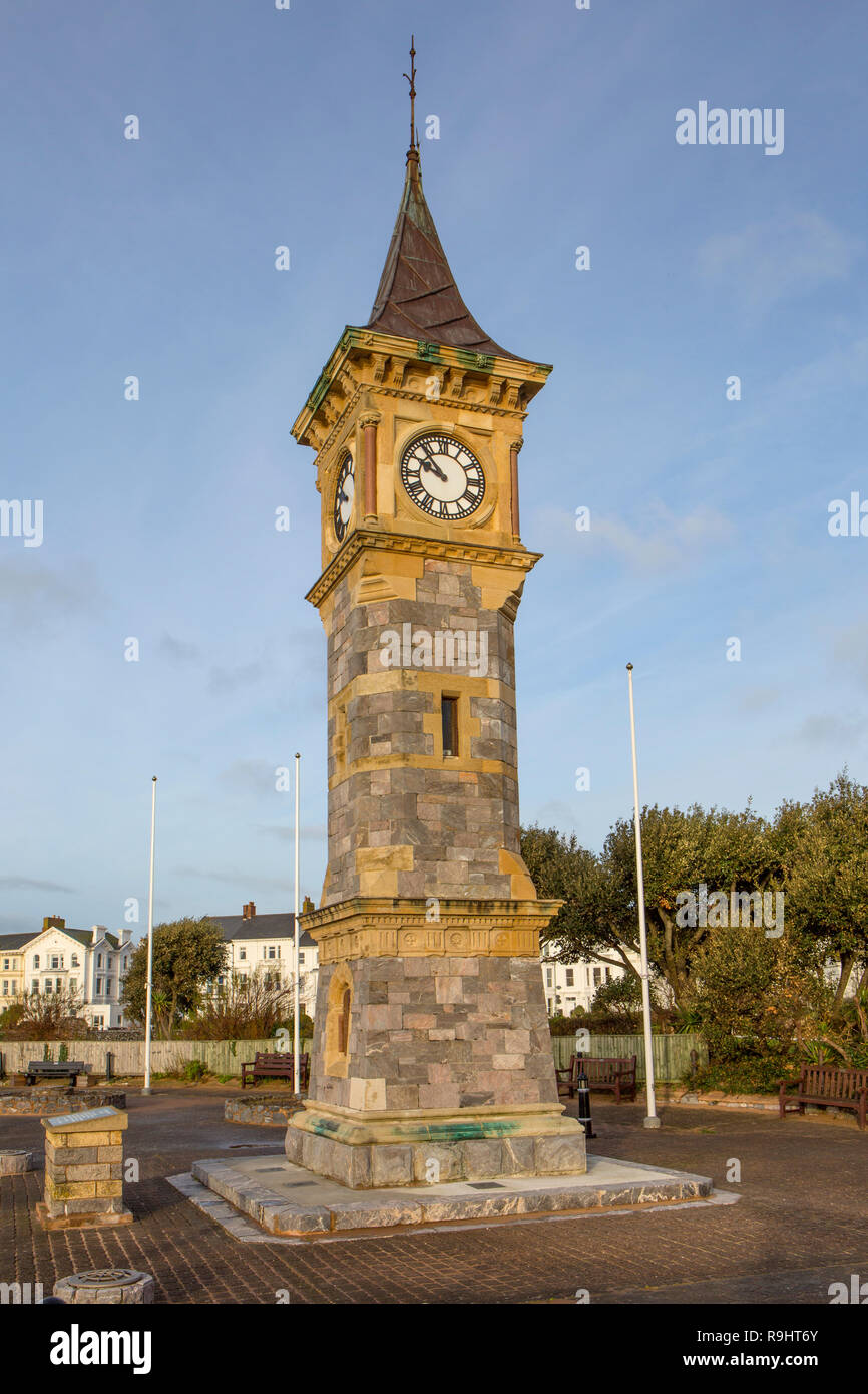 Jubilee clock tower, Exmouth - Stock Image