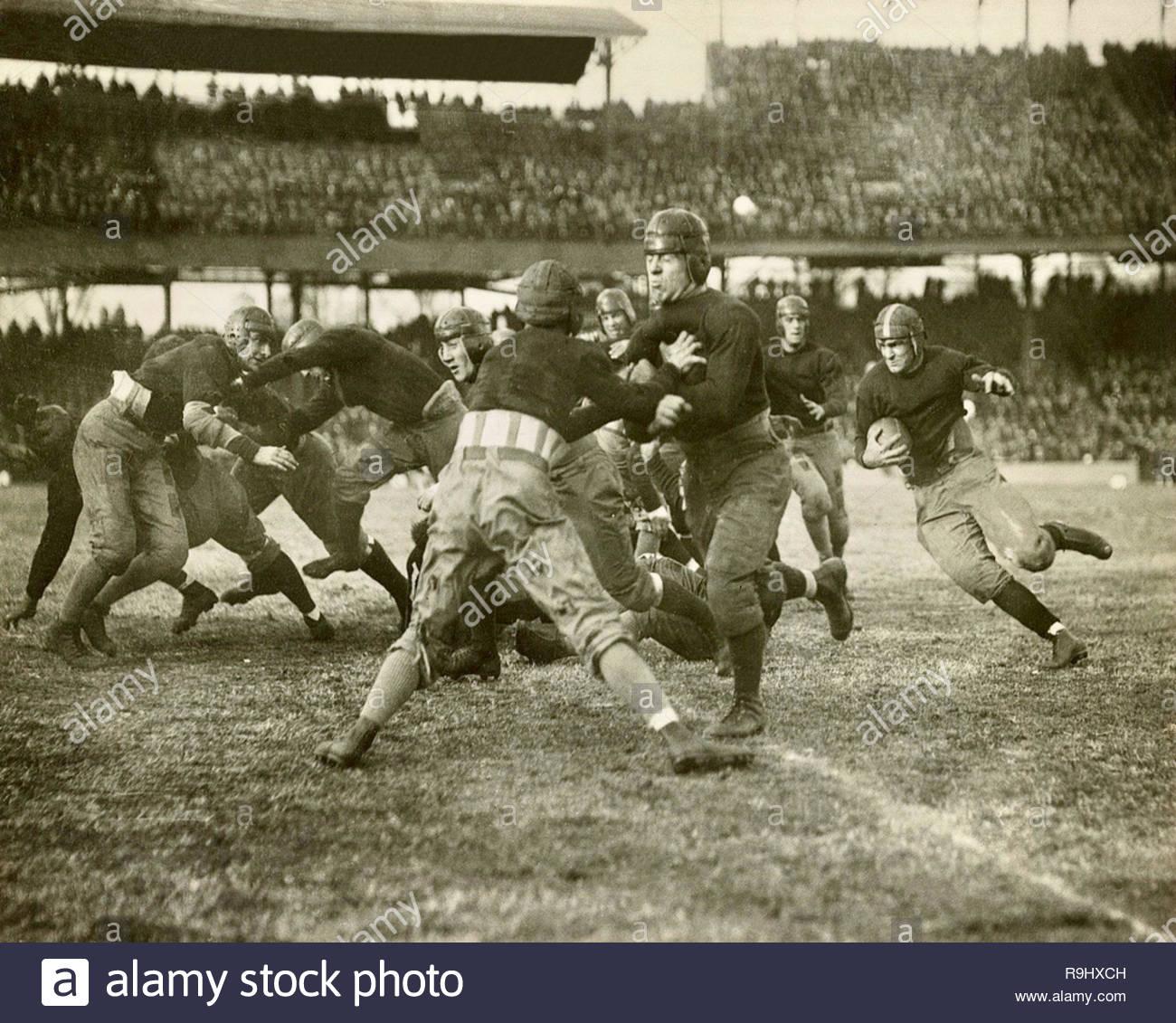 Football game between 1920 & 1930 - Stock Image