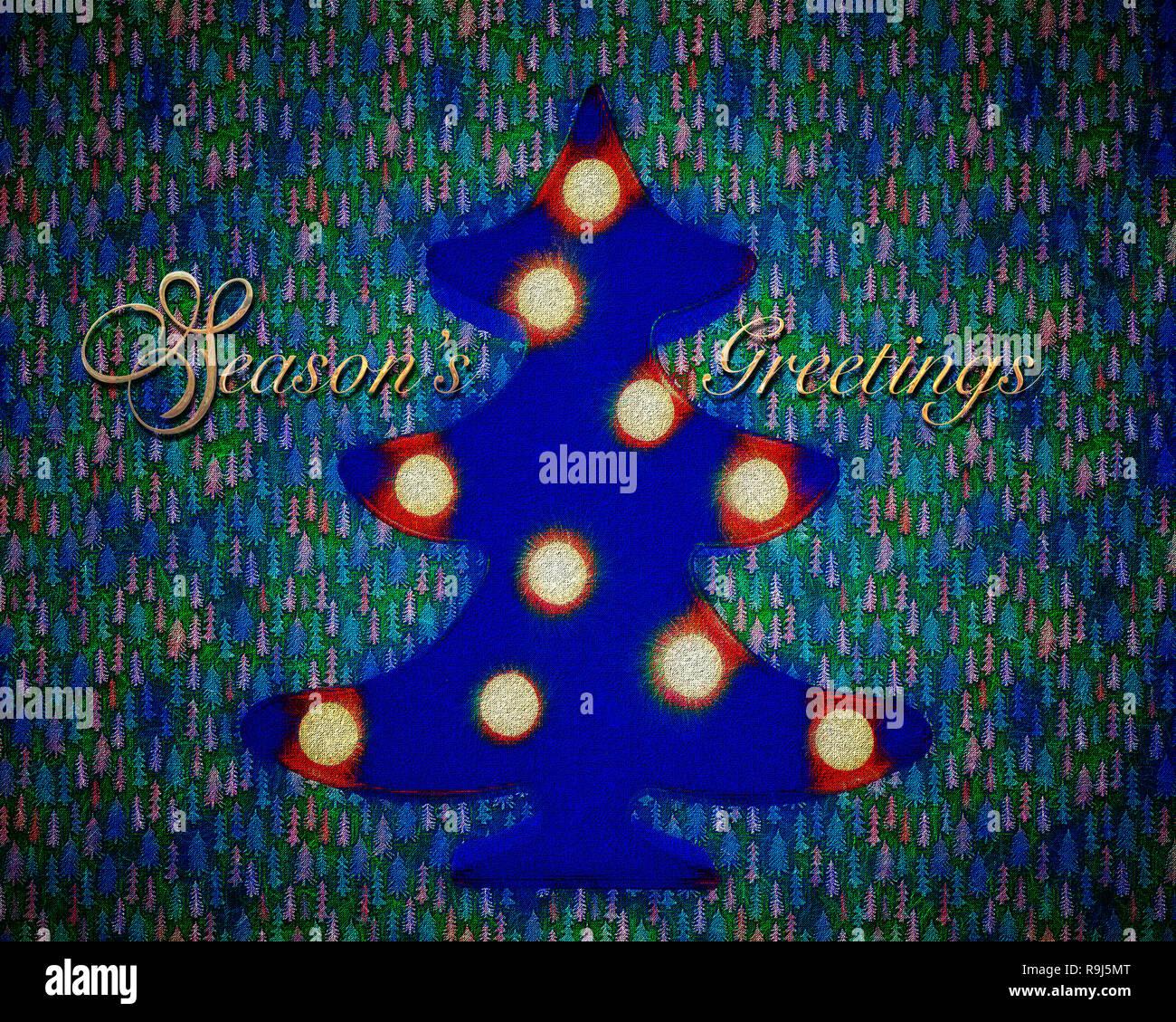 CHRISTMAS CONCEPT: Season's Greetings - Stock Image