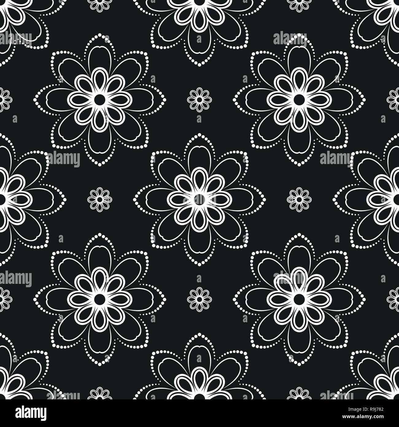 Floral Vector Ornament Seamless Abstract Classic Background