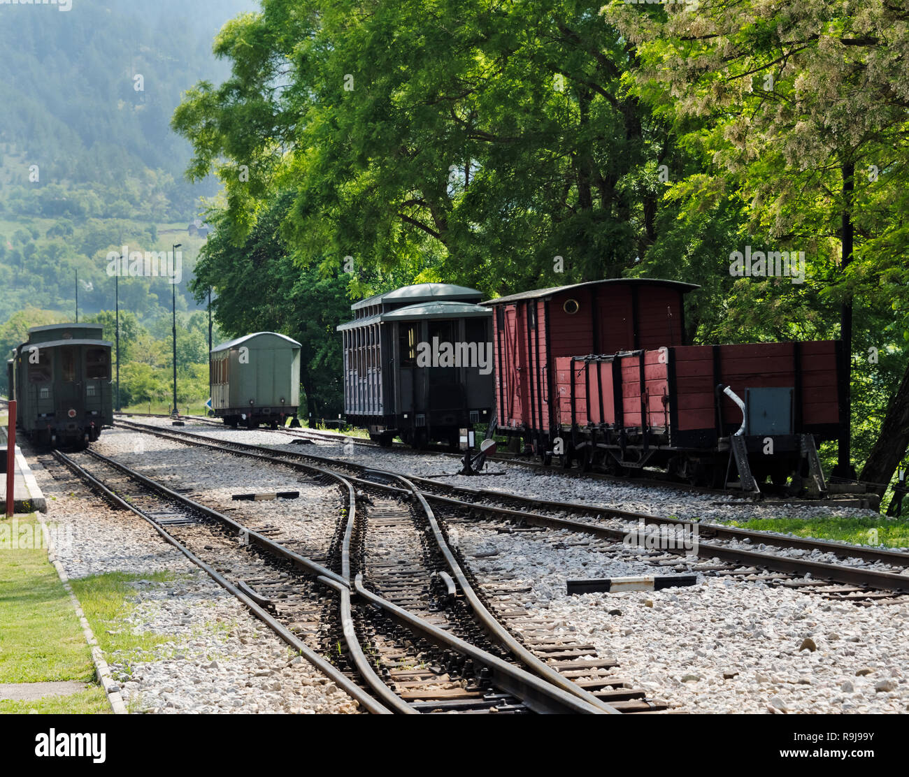 Sargan Eight train, a narrow-gauge heritage railway, Mokra Gora, Serbia - Stock Image