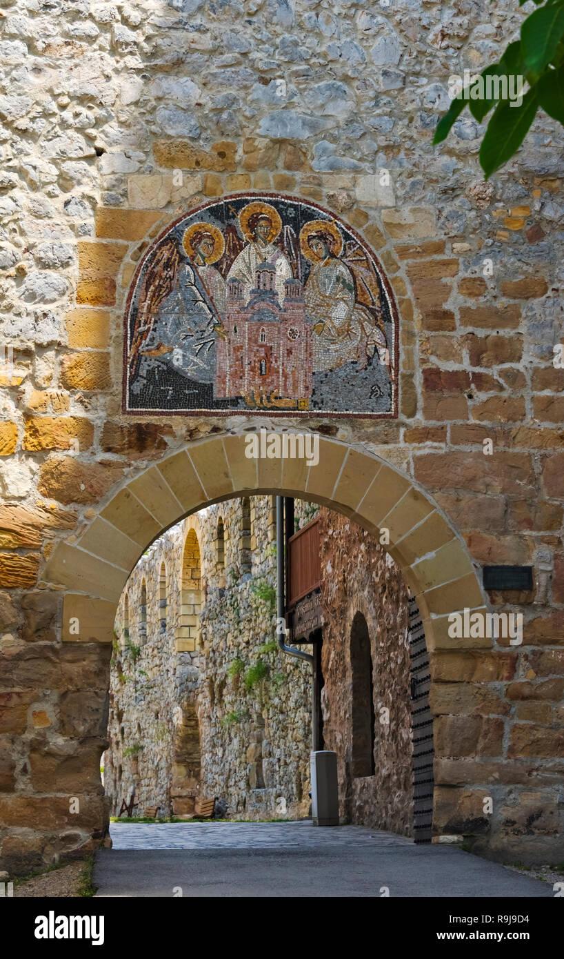 Manasija Monastery, a Serbian Orthodox monastery, Serbia - Stock Image
