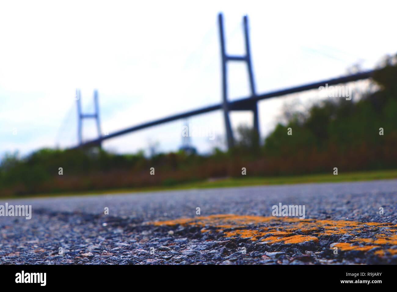 Take the road less traveled - Stock Image