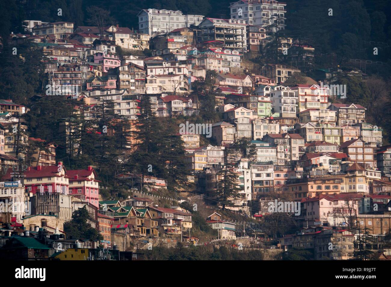 View of Shimla in Himachal Pradesh, India - Stock Image
