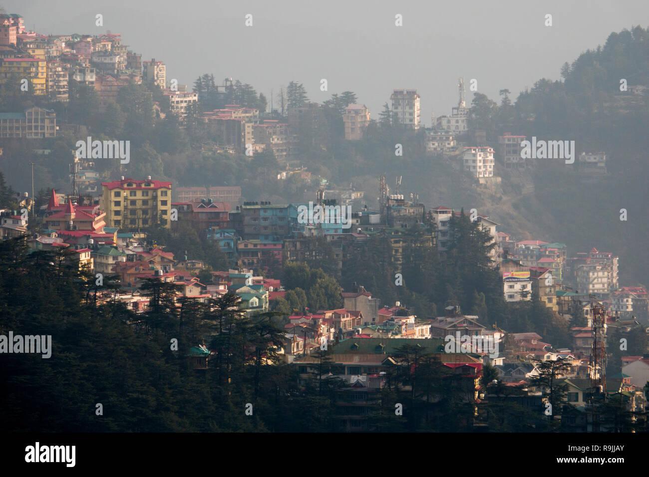 View of Shimla in Himachal Pradesh, India - Stock Image