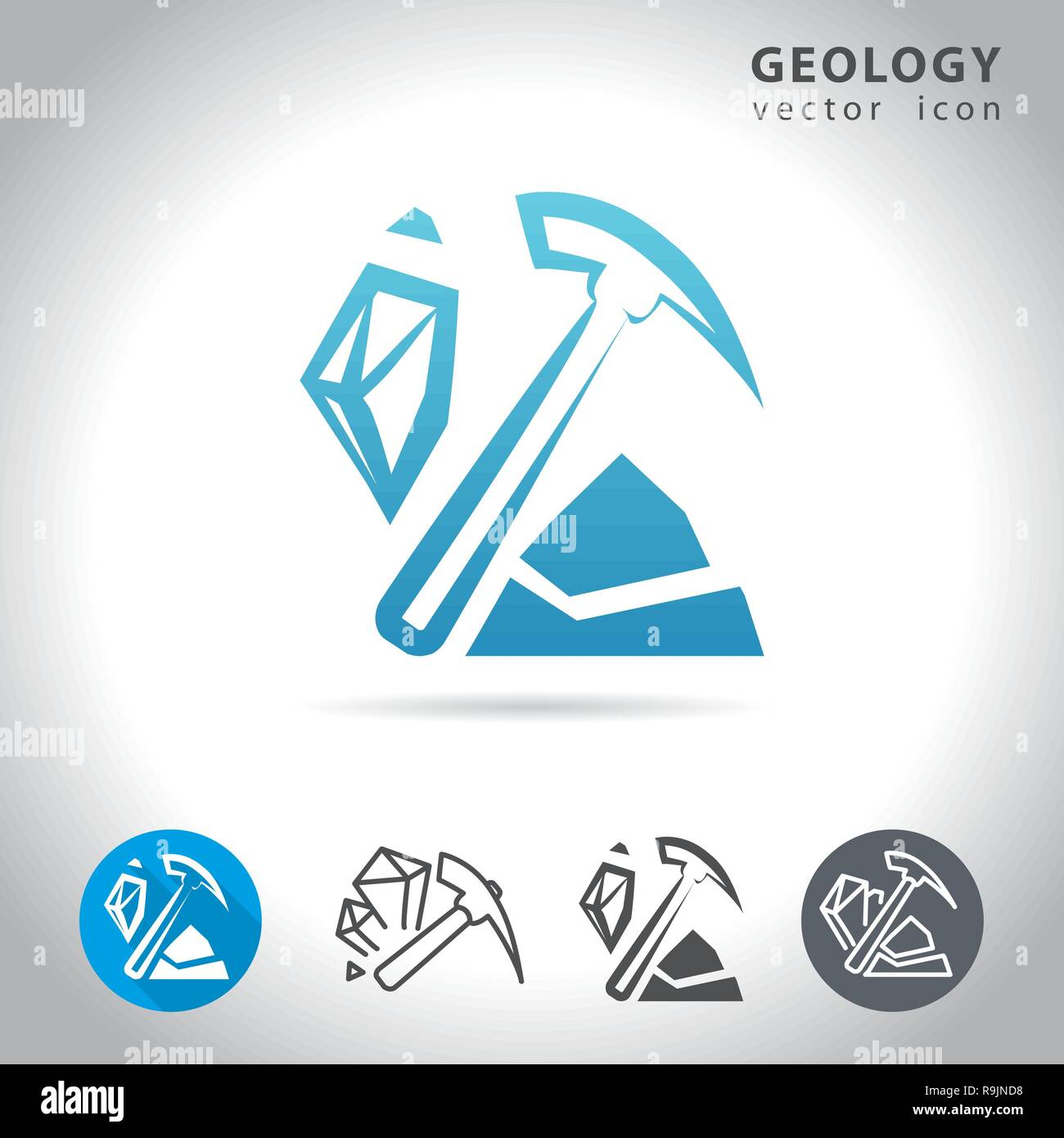 geology blue icon - Stock Vector