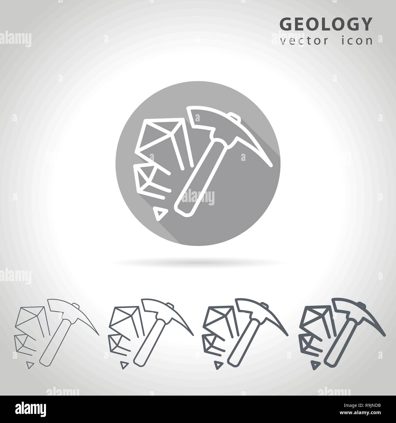Geology outline icon - Stock Vector