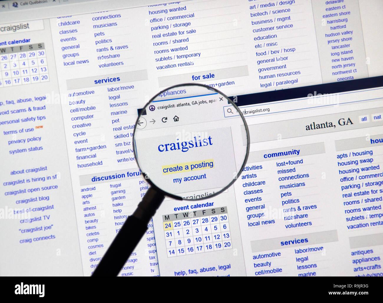 Craigslist Logo Stock Photos & Craigslist Logo Stock Images