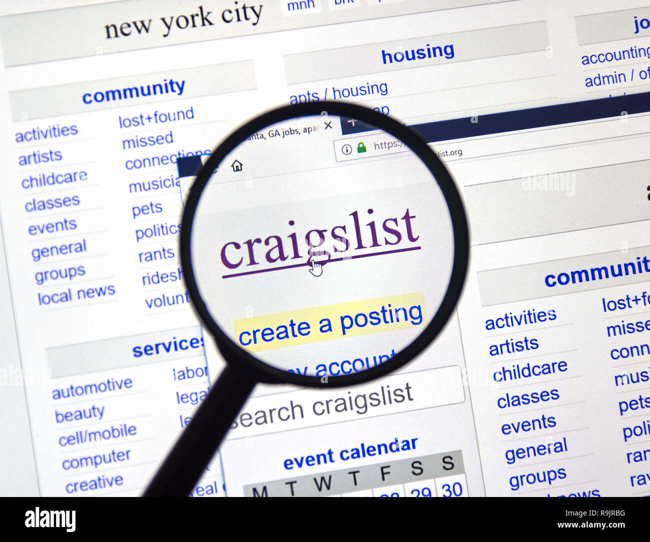 Craigslist Logo Stock Photos & Craigslist Logo Stock Images - Alamy