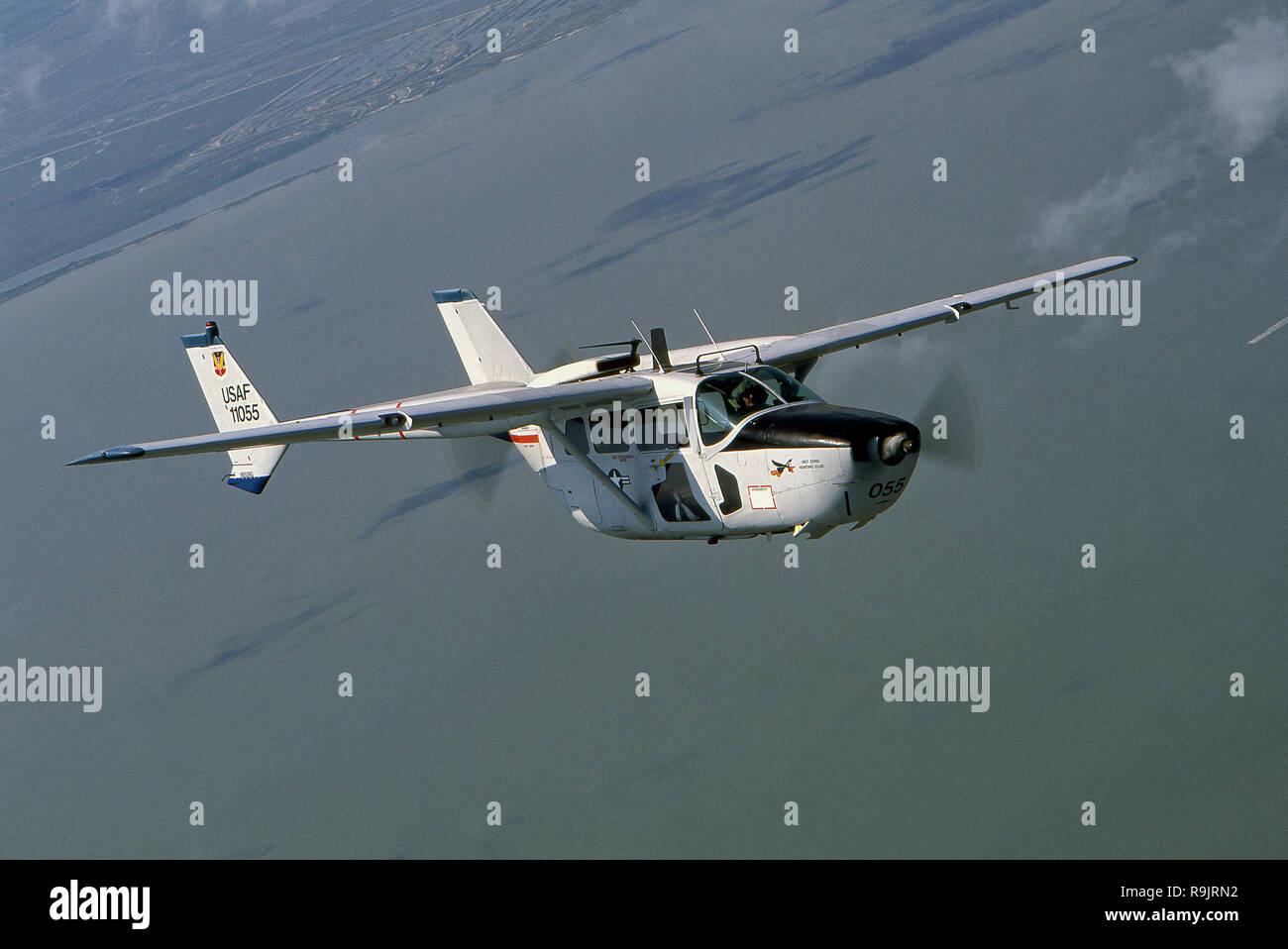 Vietnam Era Cessna O-2 Skymaster Airplane Stock Photo