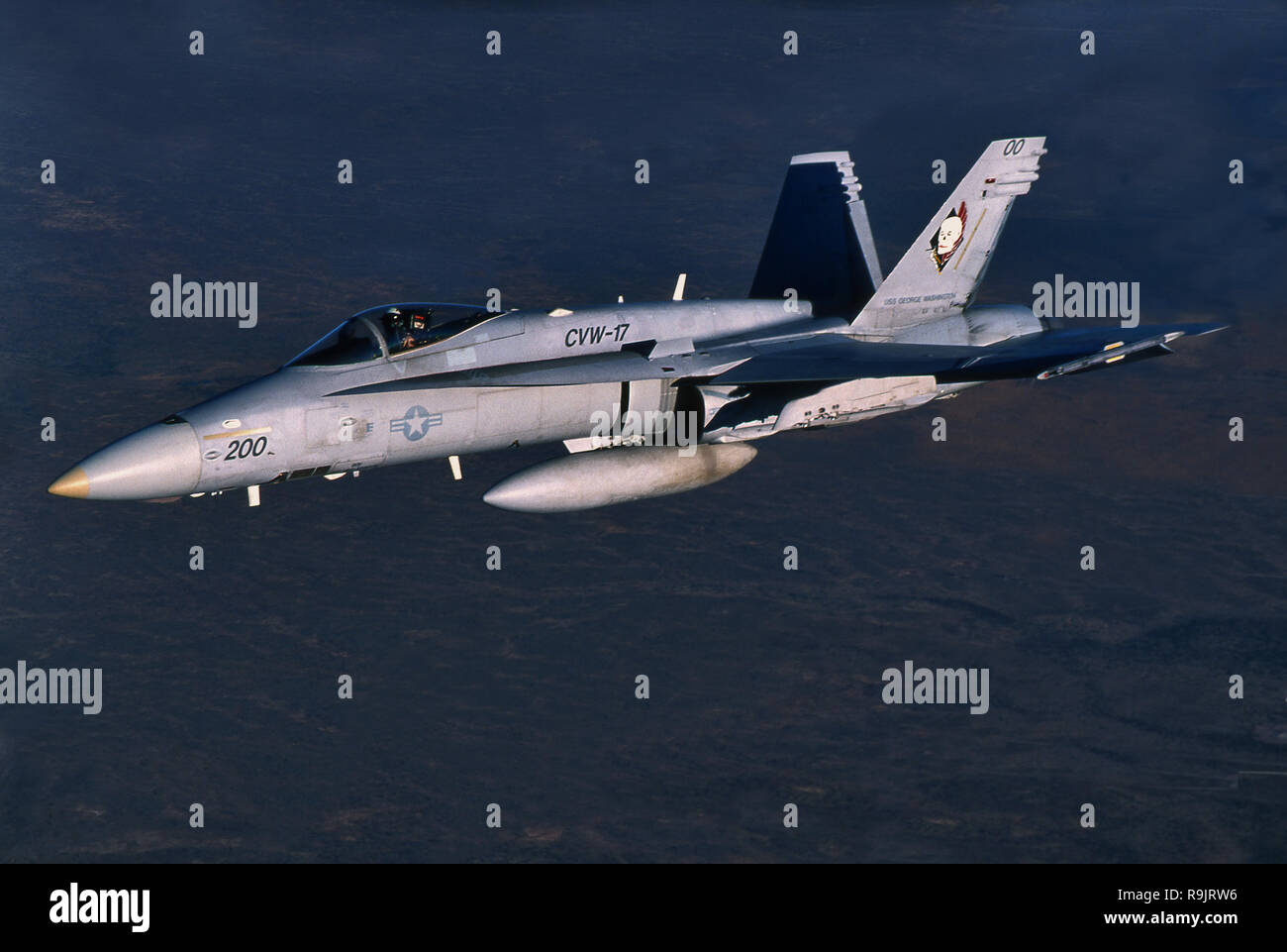 McDonnell Douglas FA/18 Hornet Navy Marine Fighter. Stock Photo
