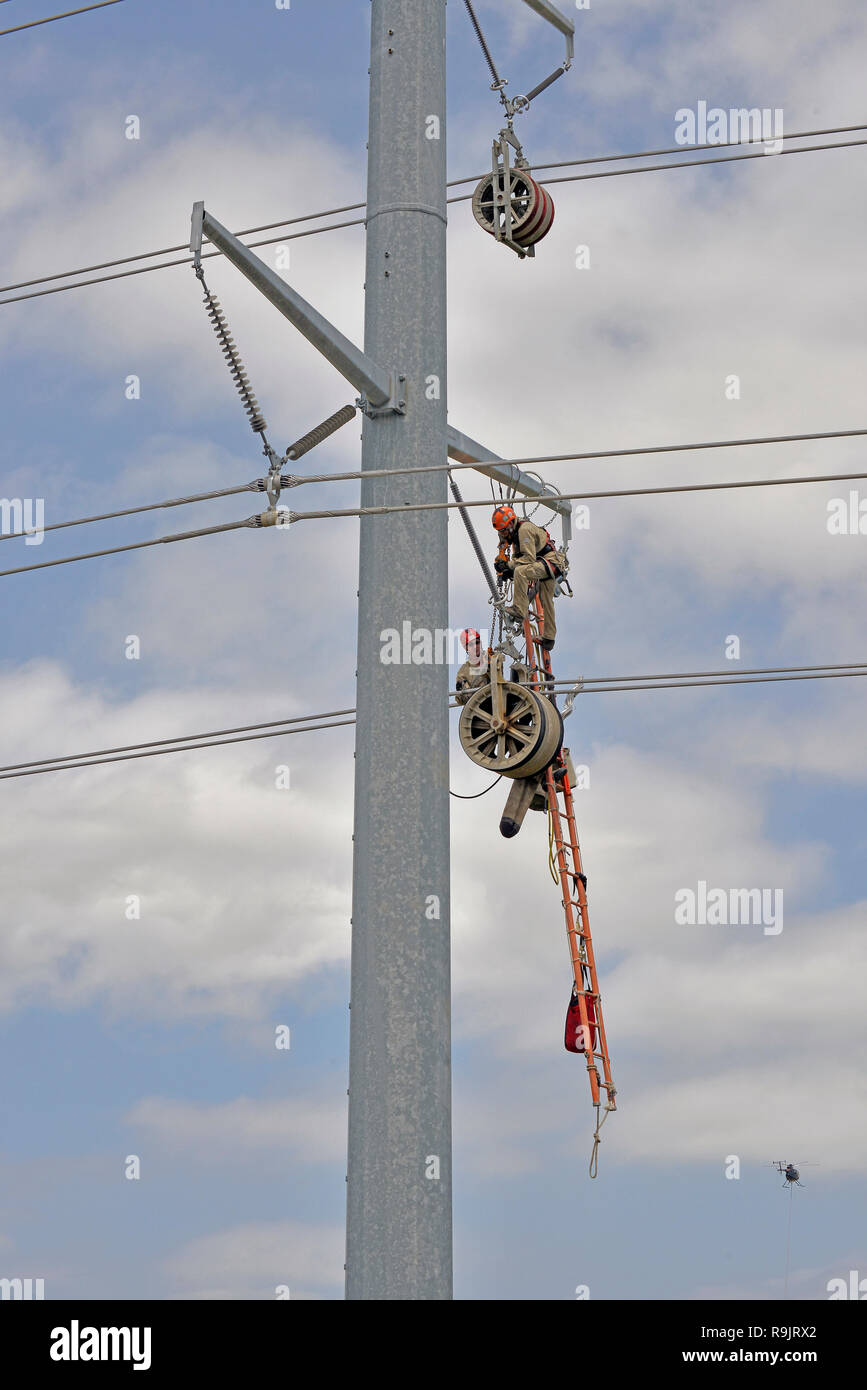 Electrical Power Linemen - Stock Image