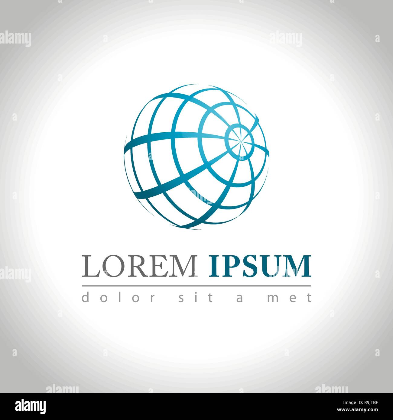 Abstract web Icon and logo sample, vector illusration - Stock Image