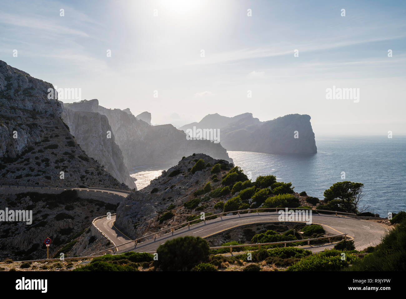 Mallorca Aussichtspunkt Cap Formentor, Majorca Viewpoint Cap Formentor - Stock Image