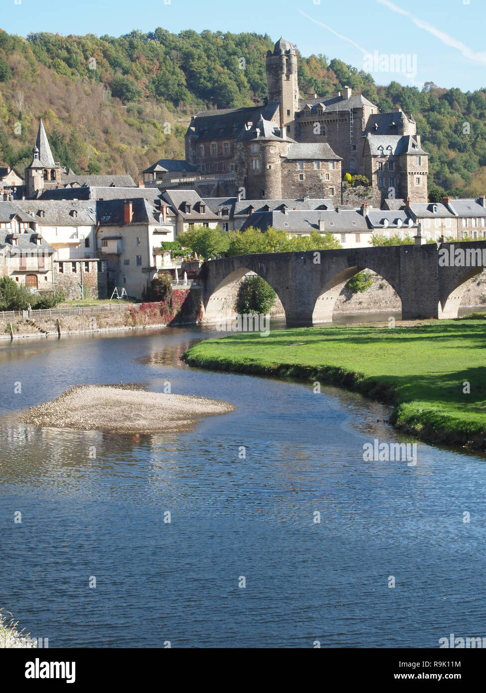 Estaing view - Stock Image