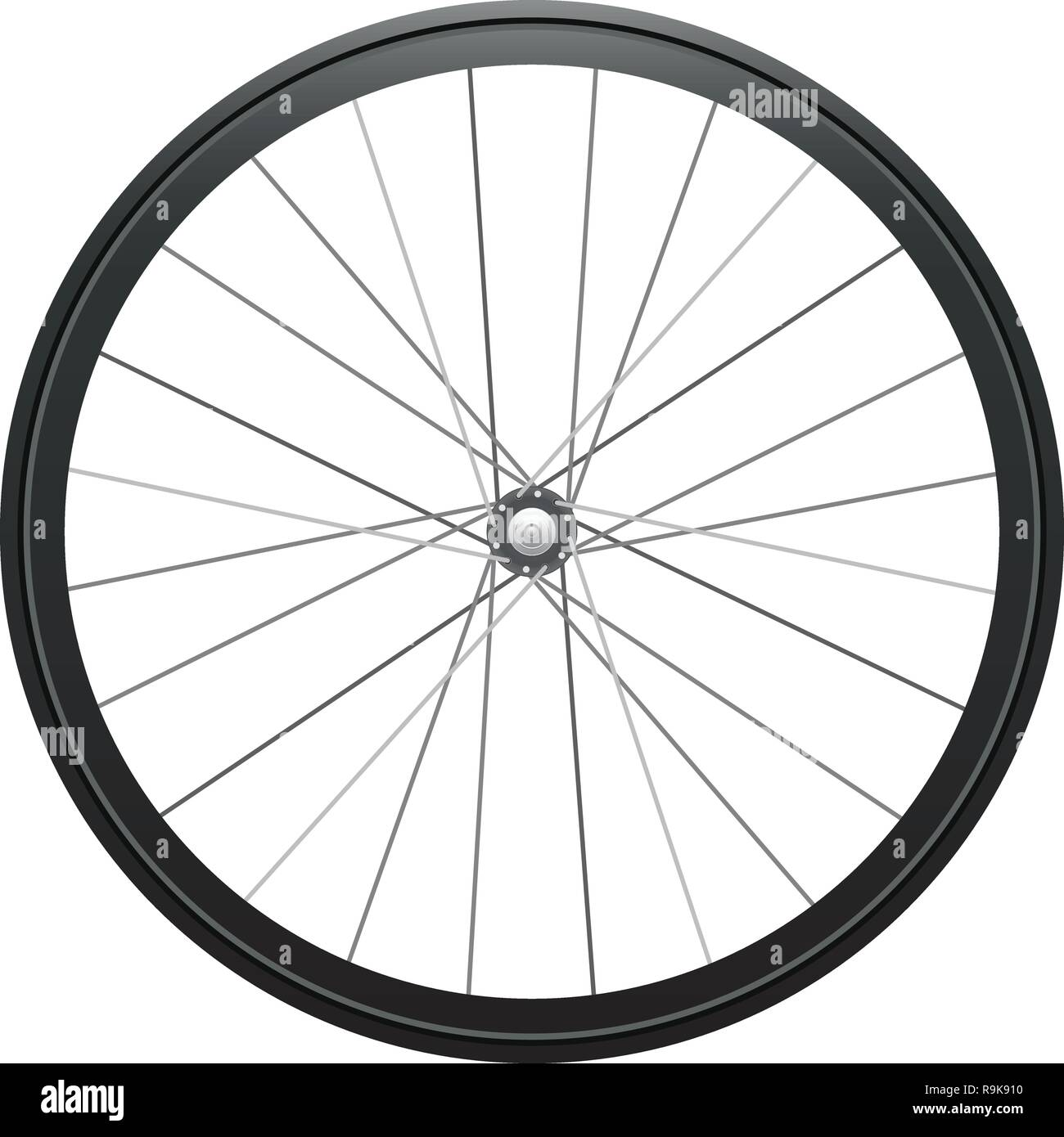 Realistic illustration: cycling wheel Isolated on white background - Stock Vector