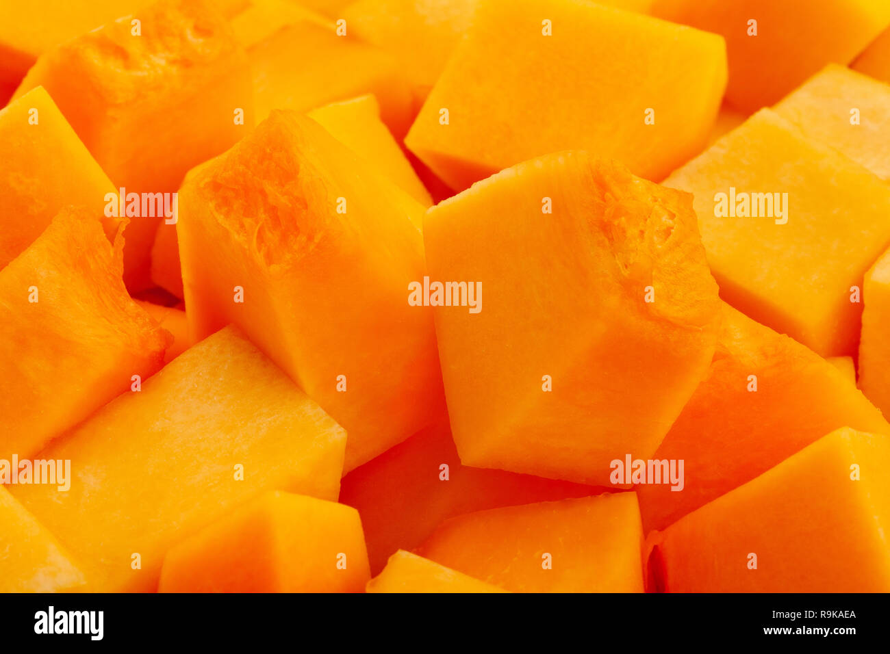 sliced butternut squash macro closeup Stock Photo