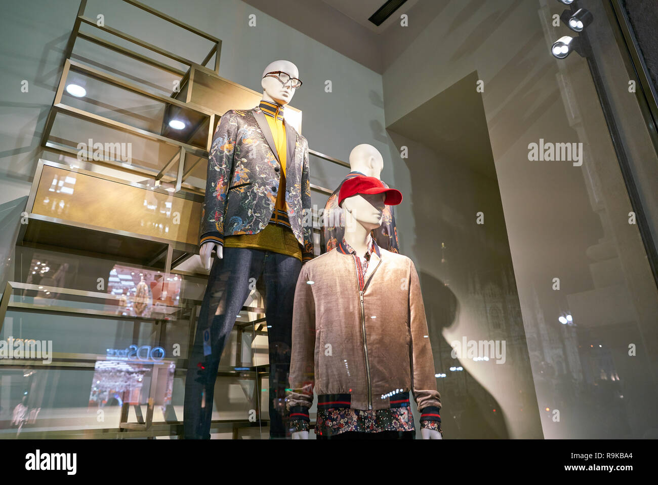 MILAN, ITALY CIRCA NOVEMBER, 2017: display window at Zara
